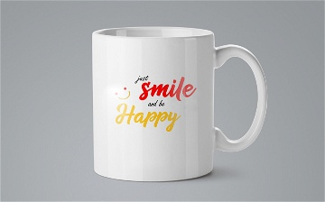 Mug / Tasse - Just smile and be happy