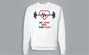 Sweat-shirt / Pull - In love with the gym