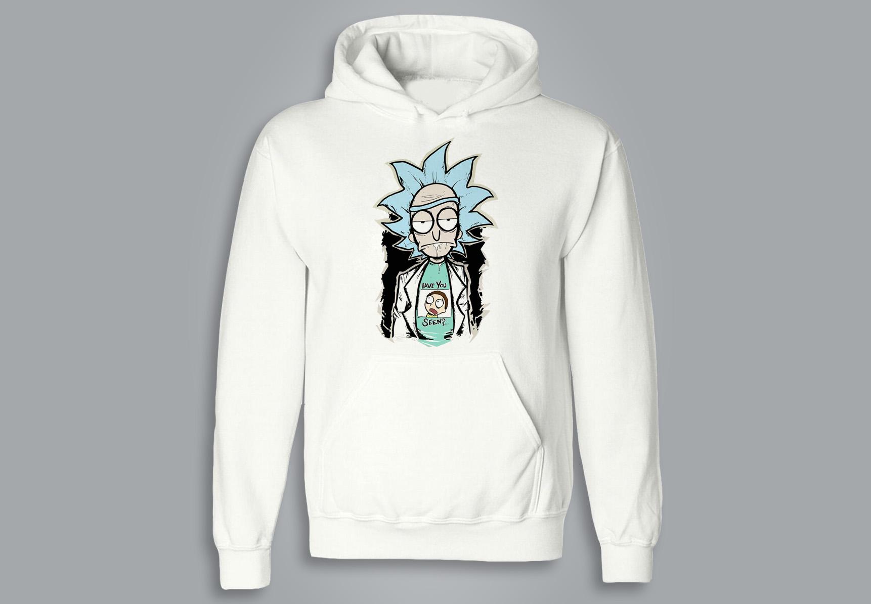 SWEAT À CAPUCHE / HOODIE - Rick and Morty
