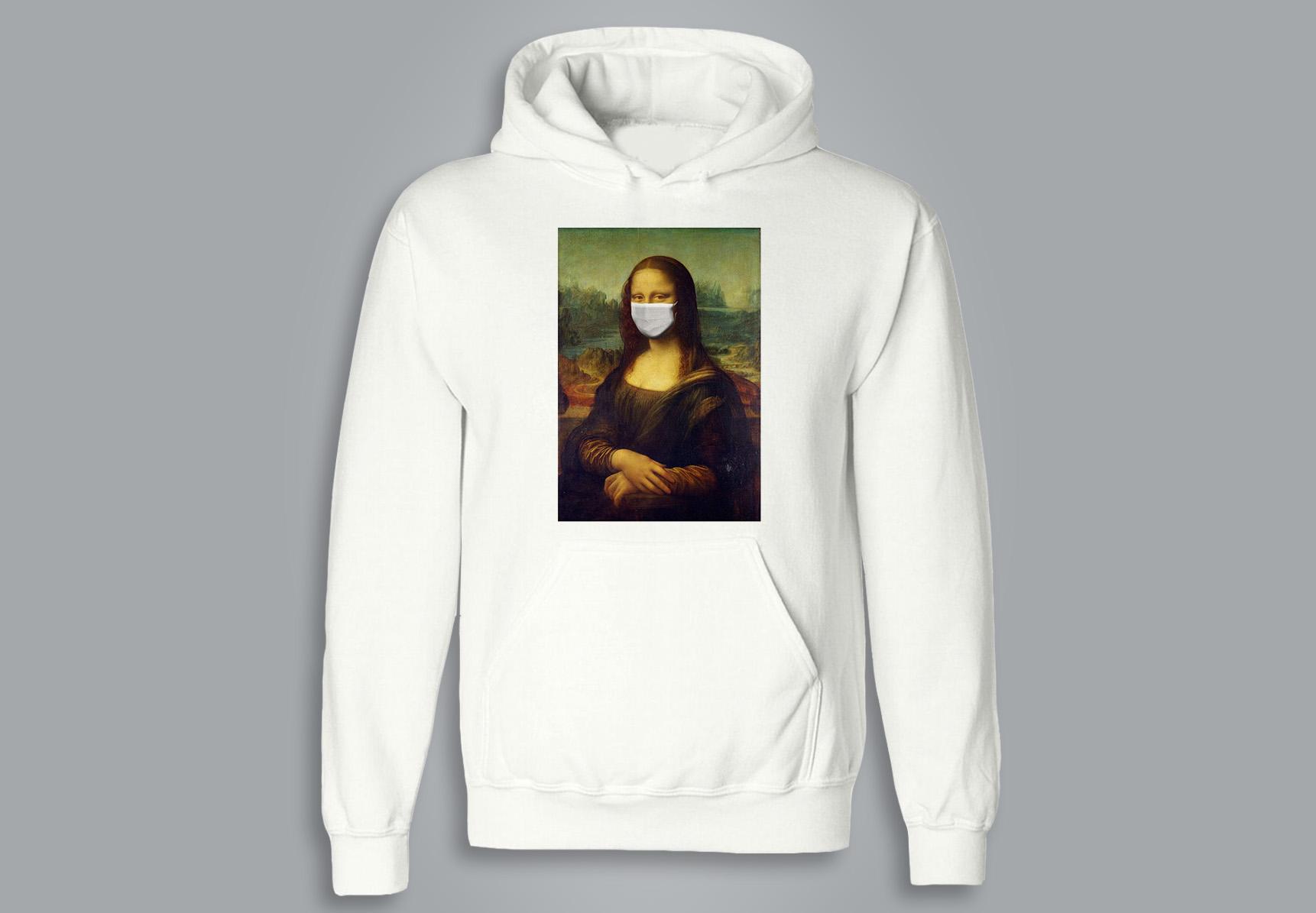 SWEAT À CAPUCHE / HOODIE - Mona Lisa (avec masque)