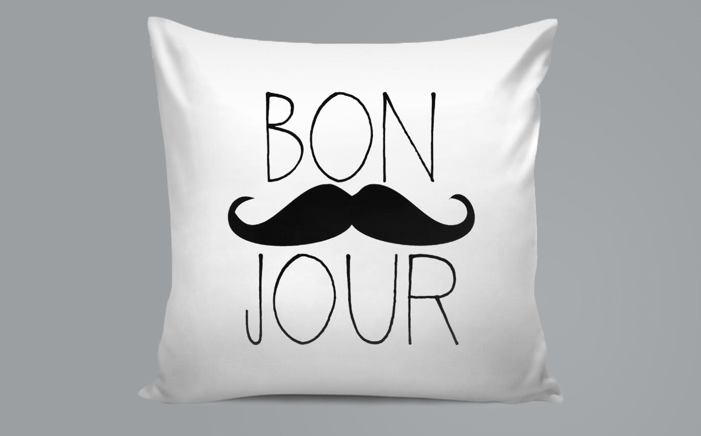 Pillow / Oreiller - Bonjour