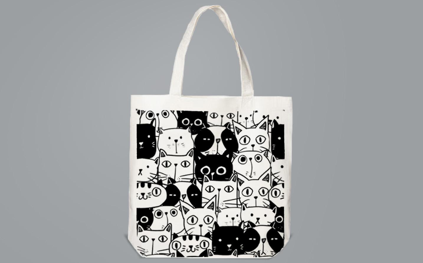 Bag / Sachet - Black&White cats