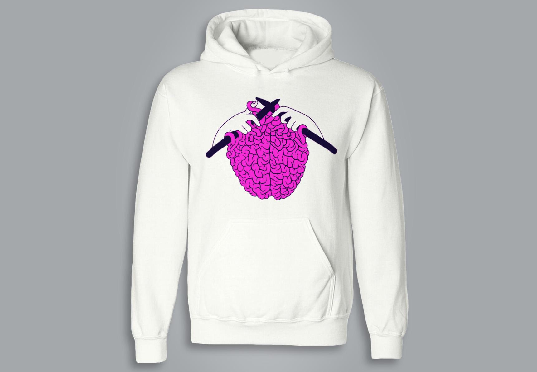SWEAT À CAPUCHE / HOODIE -  Knitted brain