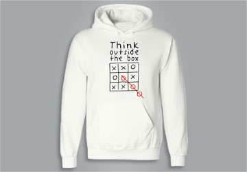 SWEAT À CAPUCHE / HOODIE -  THINK OUTSIDE THE BOX