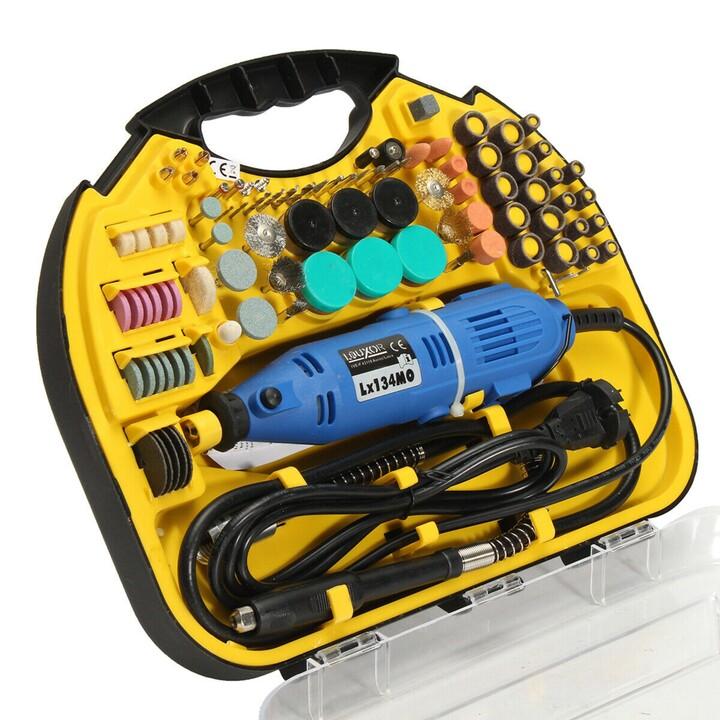 Kit Outil Rotatif 163 Pièces 330W - 163 ملحق للثقب والتلميع